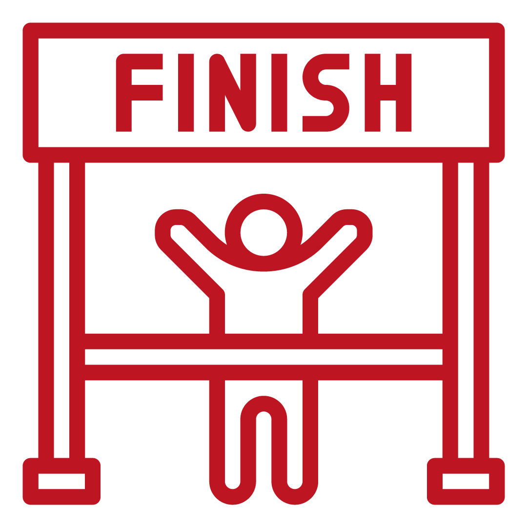 Fitness for all - finish line