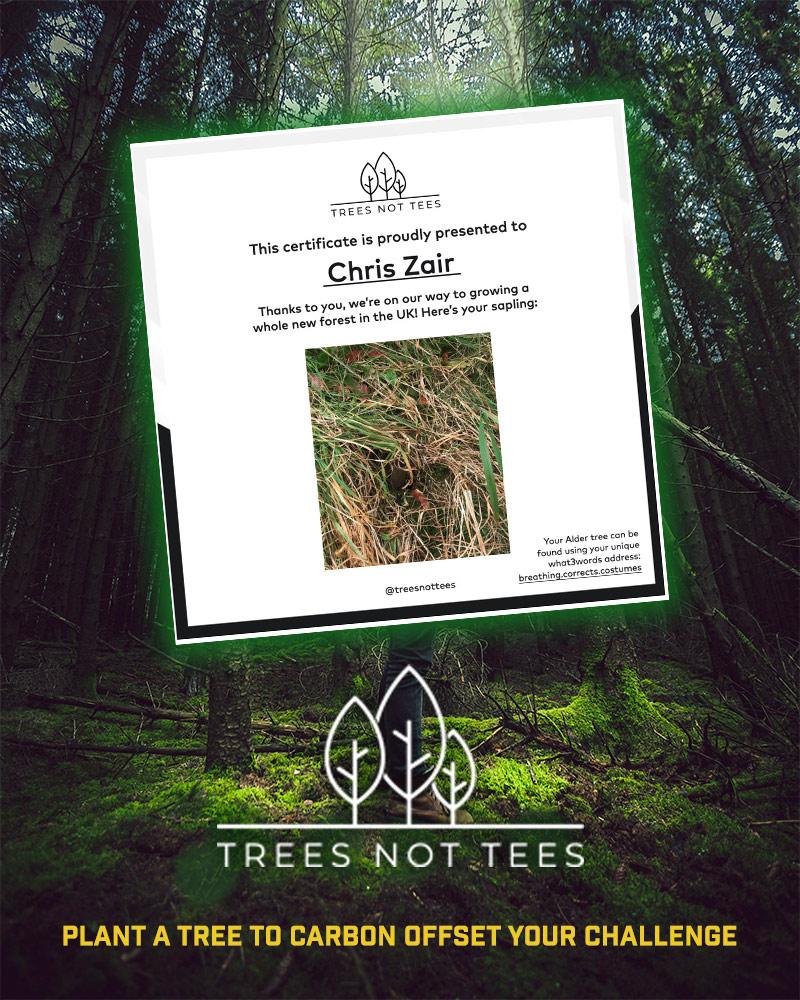 Trees Not Tees Certificate