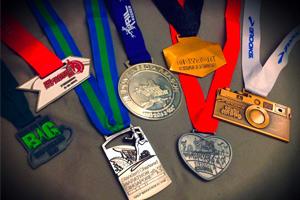 Earn finisher's medal